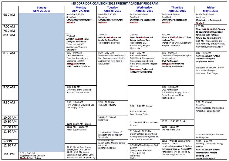 Agenda 2015 1st week