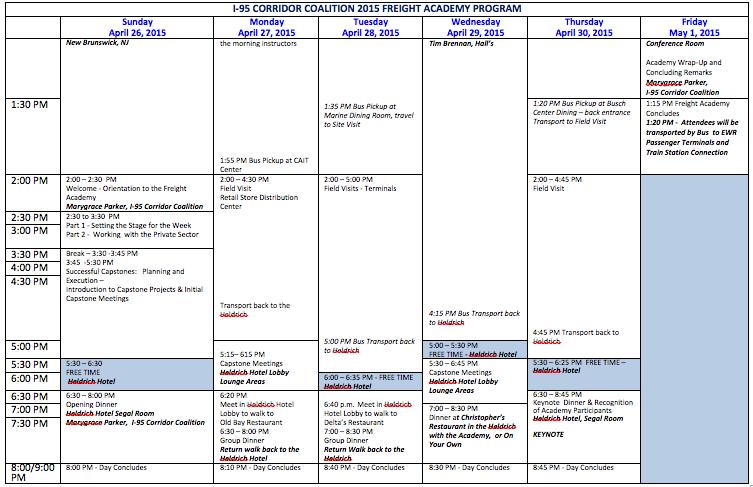 Agenda 2015 2nd week